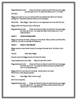 The Runaway Piggy Readers Theater Script