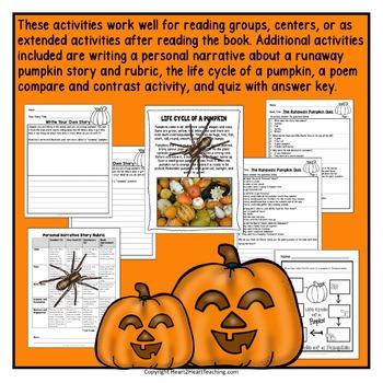 The Runaway Pumpkin Literacy and Activity Pack for Halloween Activities