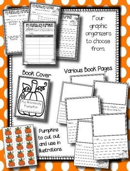 The Runaway Pumpkin --- Pumpkin Writing Book Activity With Graphic Organizers