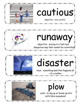 The Runaway Pumpkin Vocabulary Cards