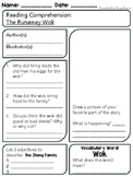 The Runaway Wok (A Chinese New Year Tale) - Reading Comprehension Worksheet