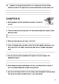 The Running Man Chapter Questions - Reading Comprehension Ch 5-8