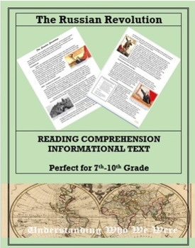 The Russian Revolution--Informational Text Worksheet