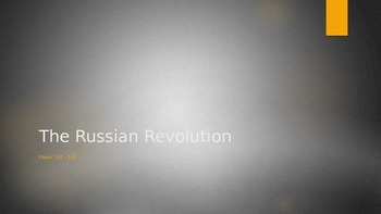 The Russian Revolution PowerPoint