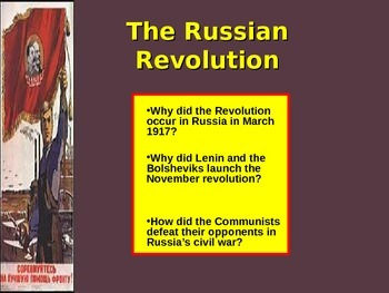 Honors / World History - The Russian Revolution - Student Centered
