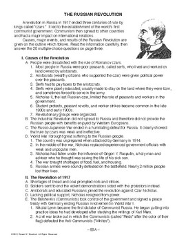 The Russian Revolution, WORLD HISTORY LESSON 99 of 150, Activity & Quiz
