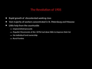 The Russian Revolution and Stalin