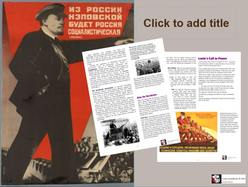 Honors World History - The Russian Revolution  / WWI - Bundle Pack