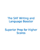 """""""The SAT Writing and Language Section Booster"""" Test Preparation Verbal"""