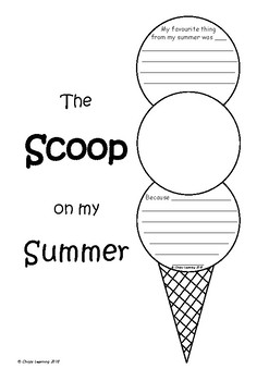 The SCOOP on my Summer (fun summer/holiday writing activity)