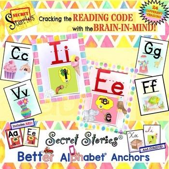 The SECRET STORIES® Vertical/Horizontal Alphabet Set (w/ P