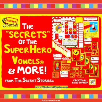 """""""SECRETS"""" of Superhero Vowels® Bundle! (from Secret Stories® Phonics Secrets!)"""