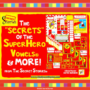 "Secret Stories® ""SECRETS"" of Superhero Vowels® Phonics Posters & MORE Bundle!"
