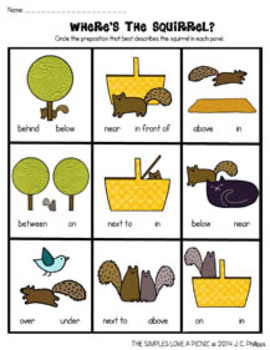 The Simples Love Prepositions FREE Worksheets