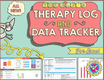 sale the slp s therapy log and data tracker by the speechstress
