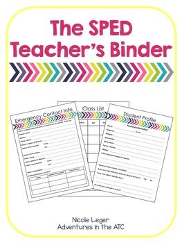 The SPED Teacher's Binder