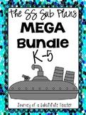 The SS Sub Plans Mega Bundle: K-5 Sub Plans