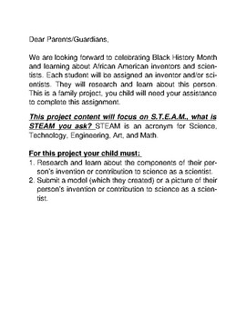 The STEAM of Black History Project