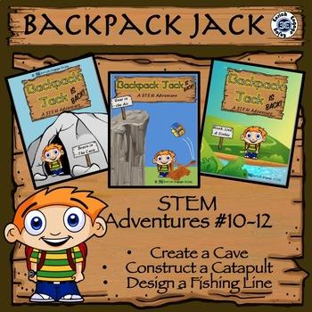 The STEM STEAM Adventures (# 10 - 12) of Backpack Jack -- 3-Pack BUNDLE