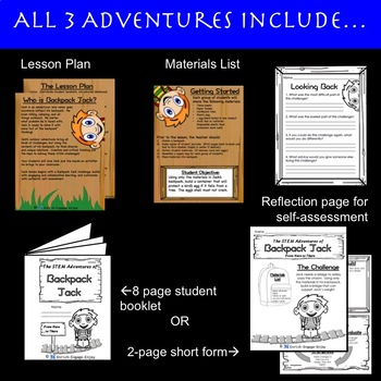 The STEM STEAM Adventures (# 13 - 15) of Backpack Jack -- 3-Pack BUNDLE