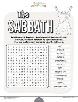 The Sabbath Bible Activity Book