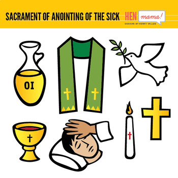 Sacrament of Anointing of the Sick Clip Arts