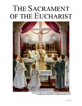 The Sacrament of Holy Eucharist Book