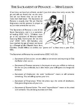 The Sacrament of Penance Book