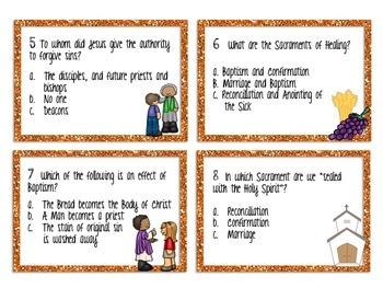 The Sacraments Tasks Cards
