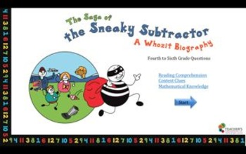 The Saga of the Sneaky Subtractor- Questions Grades K-3