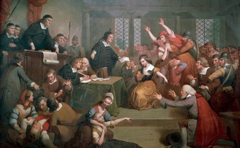 """The Salem Witch Trials - Recreating """"The Trial of George Jacobs"""" Painting"""