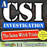 Salem Witch Trials: CSI Investigation! Was there witchcraft in Salem? Google 1:1
