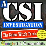 Salem Witch Craft Trials CSI Investigation | 13 Colonies | Witchcraft in Salem?