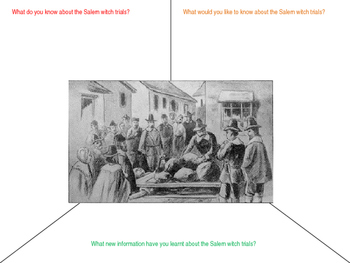 The Salem witch trial starter activity