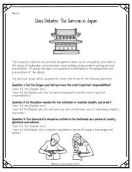 Samurai Activity: Three Classroom Debates