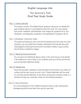 The Samurai's Tale Final Test Study Guide