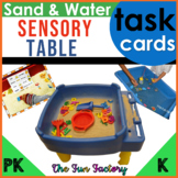 Sand and Water Sensory Table Task Card Activities, PreK-K
