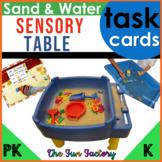 Sand and Water Sensory Table Task Card Activities, PreK-K