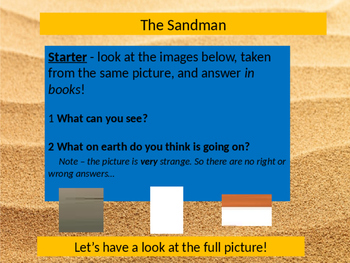 The Sandman Poetry Lesson