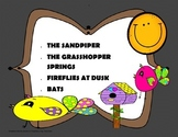 The Sandpiper, Bats + other poems - Poetry Analysis + Activities