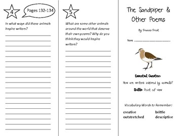 The Sandpiper Trifold - Wonders 4th Grade Unit 2 Week 5