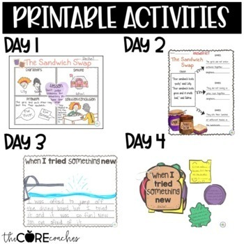 The Sandwich Swap: Interactive Read-Aloud Lesson Plans Activities  1-2