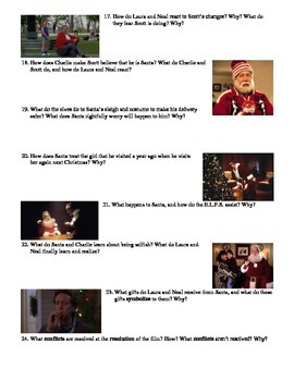 The Santa Clause Film (1994) Study Guide Movie Packet