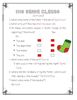 The Santa Clause Movie Questions