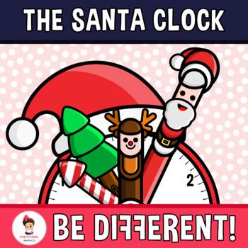 The Santa Clock Clipart