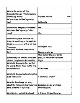 The Sasquatch Escape - 200 Questions/Answers