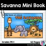 The Savanna Mini Book for Early Readers: Savanna Animals