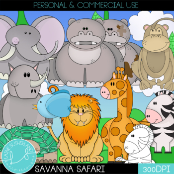 The Savanna Safari Clip Art Collection