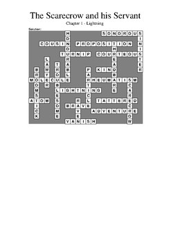The Scarecrow and his Servant - Chapter 1 Vocabulary Crossword