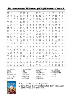 The Scarecrow and his Servant - Chapter 1 Word Search
